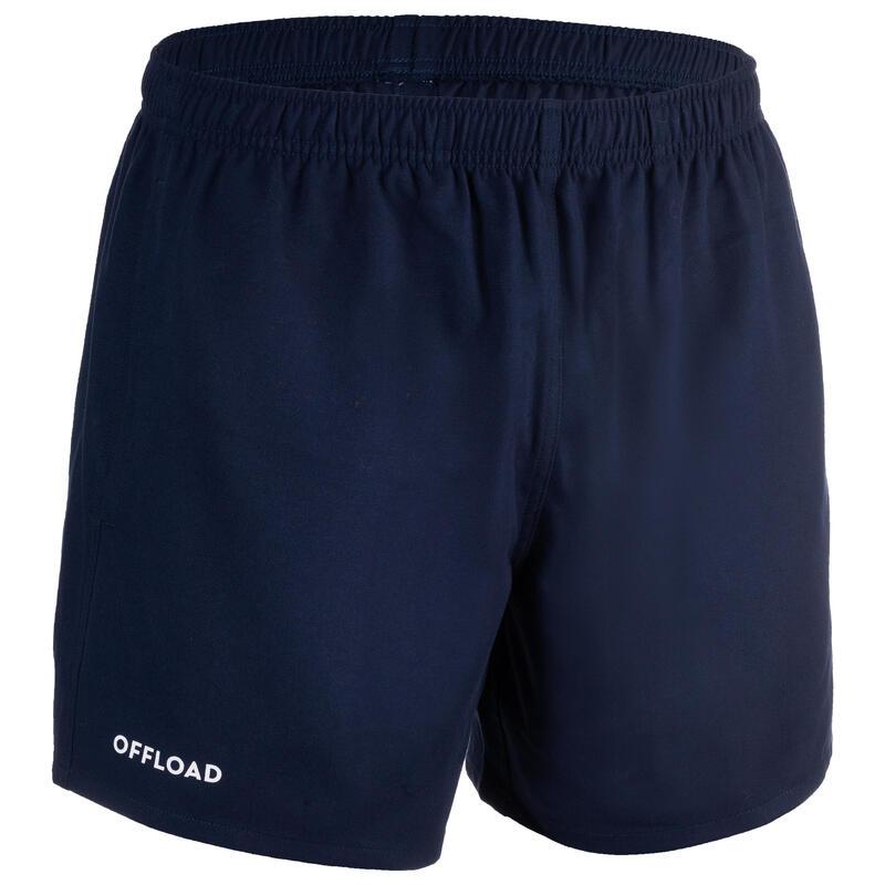 Rugbyshort voor volwassenen Club R100 marineblauw