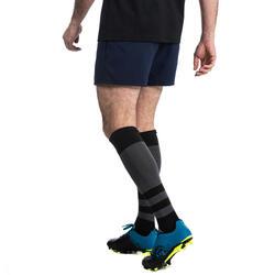 Rugbyshort voor heren R100 blauw