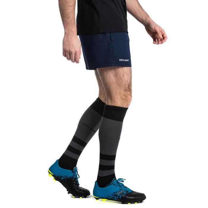 Rugbyshort met zakken voor volwassenen R100 blauw