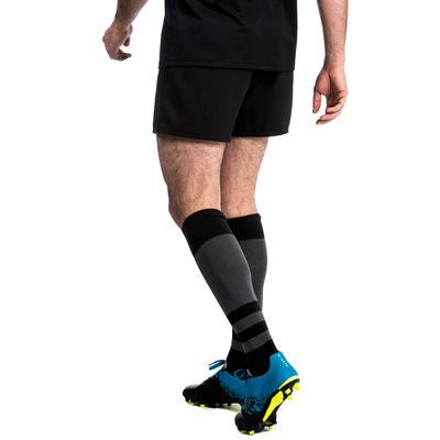 Short rugby adulte avec poches R100 noir
