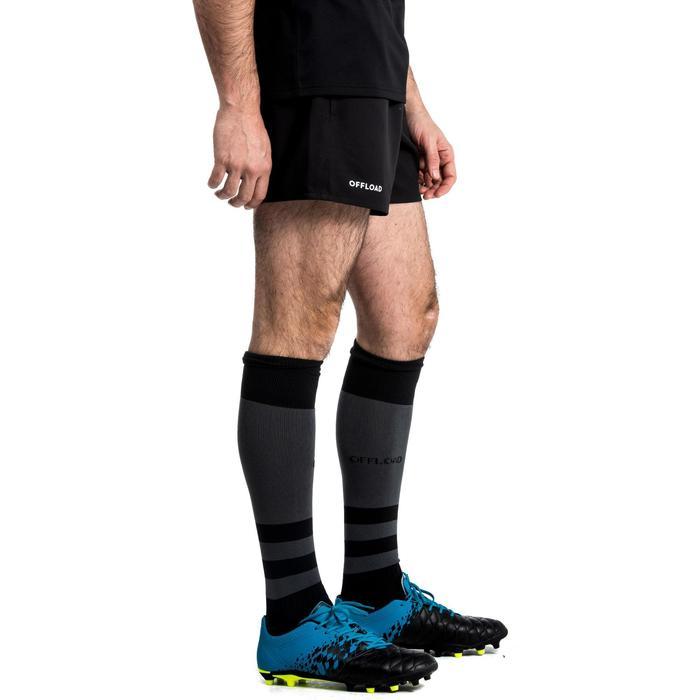成人款橄欖球短褲R100(附口袋設計)-黑色