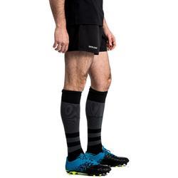 Rugbyshort met zakken voor volwassenen R100 zwart