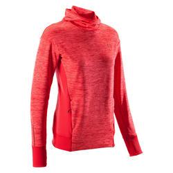 Hoodie voor hardlopen dames Run Warm rood