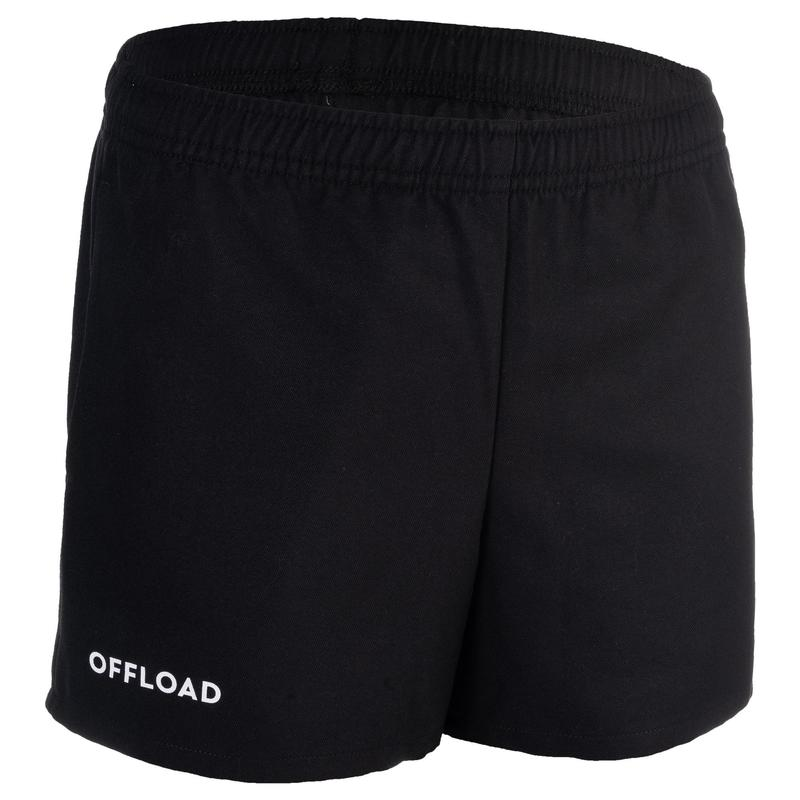R100 Junior Rugby Club Pocketless Shorts - Black