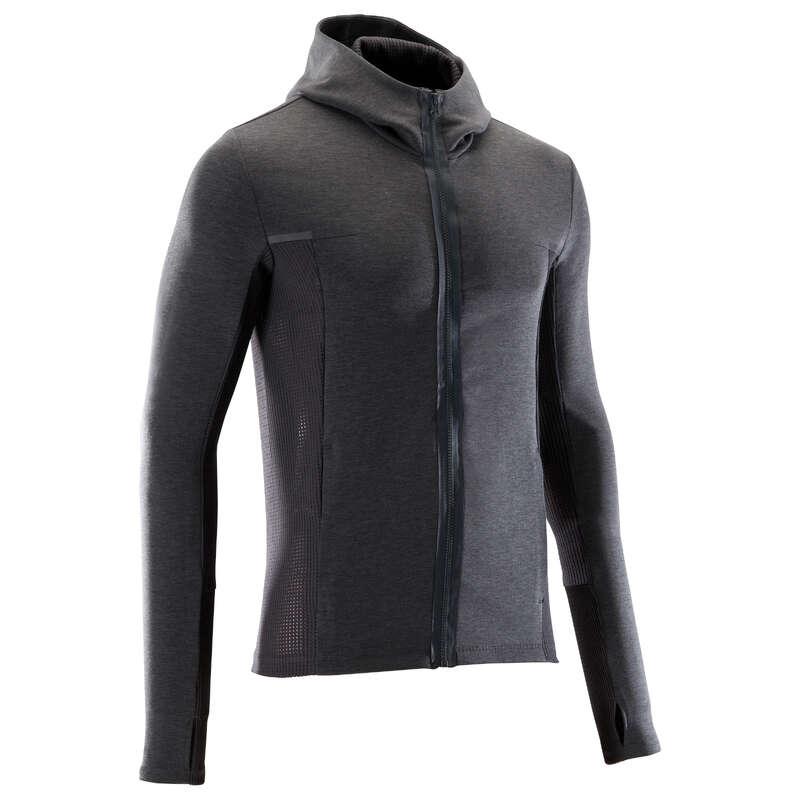 MAN INTERMED JOG COLD PROTECT CLOTHES BEH - BUNDA RUN WARM+ SIVÁ KALENJI - BEŽECKÉ OBLEČENIE