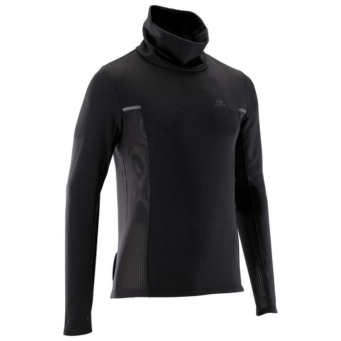 Sweat col montant jogging homme RUN WARM+ Noir