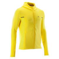 Veste jogging homme COURSE CHAUD+ jaune