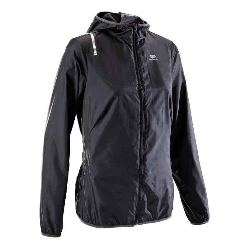 DÁMSKÉ OBLEČENÍ NA JOGGING DO DEŠTĚ A VĚTRU Běh - BĚŽECKÁ BUNDA RUN WIND  KALENJI - Běžecké oblečení