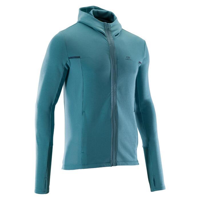 Veste jogging homme RUN WARM+ vert