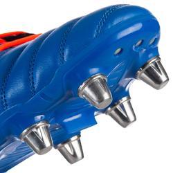 Chuteiras de Rugby para Piso Molhado 8 Pitões Kakari SG Azul/Laranja