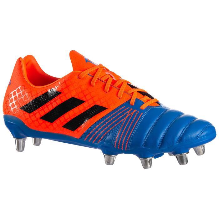 Botas de Rugby Adidas Kakari SG taco aluminio adulto azul y naranja
