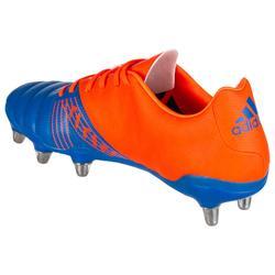 Rugbyschoen voor drassig terrein volwassenen 8 noppen Kakari SG blauw/oranje