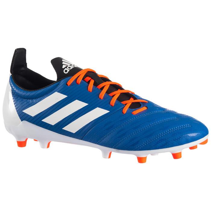 Rugbyschoen voor drassig terrein volwassenen Malice FG blauw/oranje