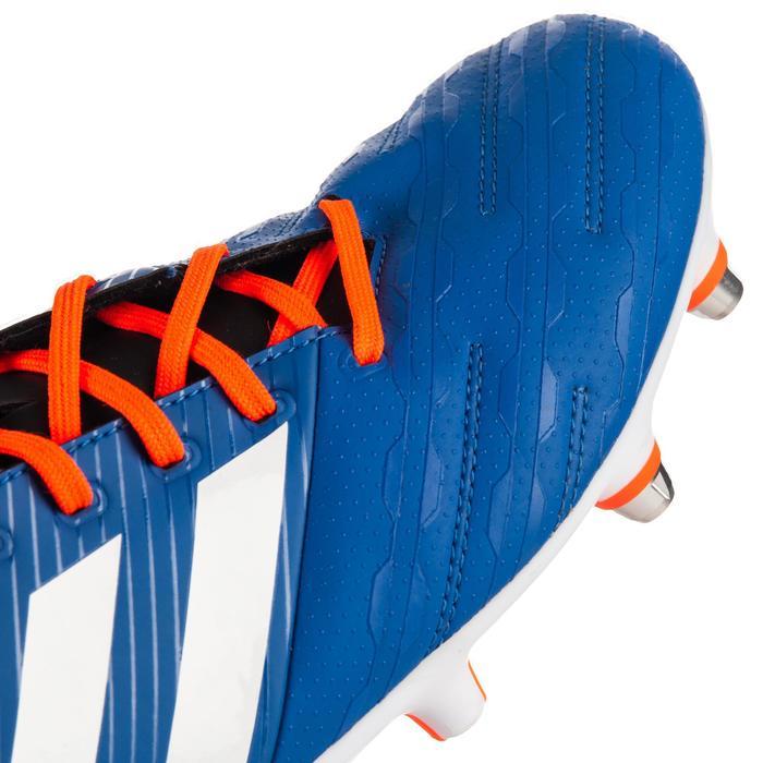 Botas de Rugby Adidas Malice Elite taco mixto adulto azul y naranja