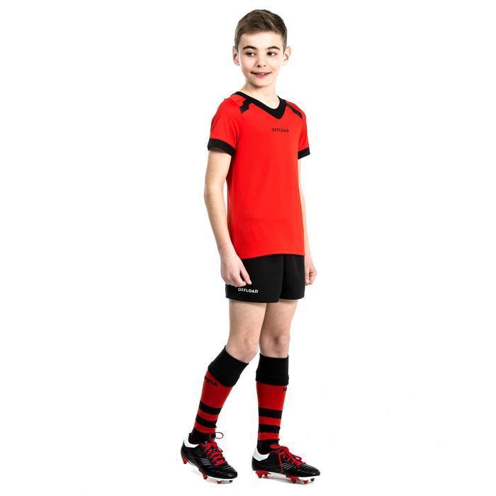Rugbyshort voor kinderen Club R100 zonder zakken zwart