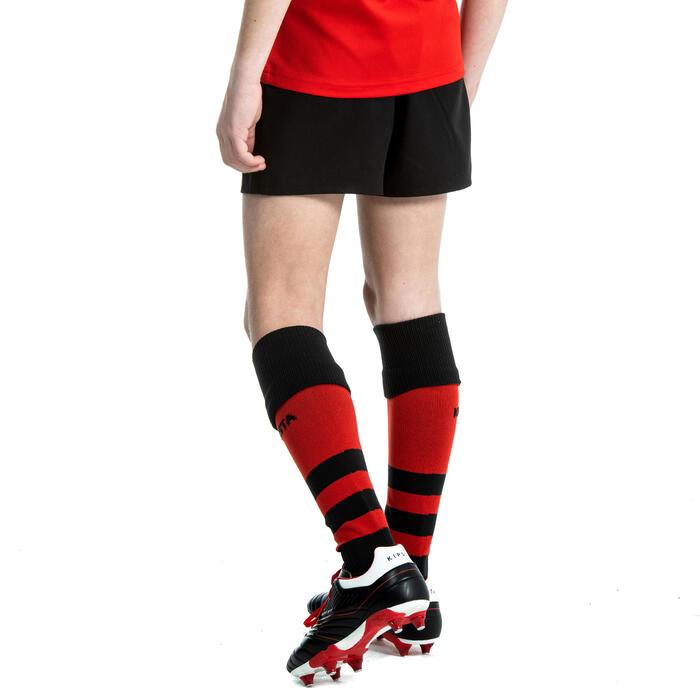 Rugbyshort R100 kinderen zwart