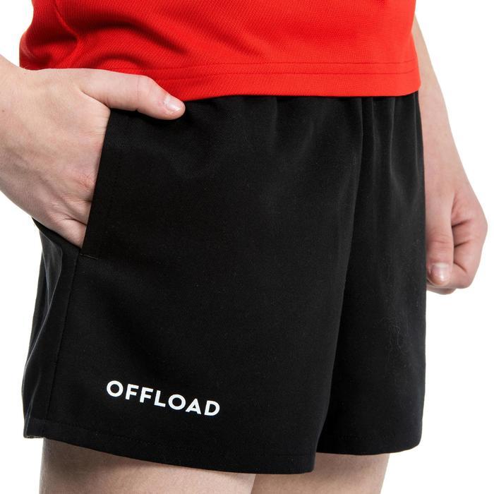 Short de Rugby R100 avec poches enfant noir