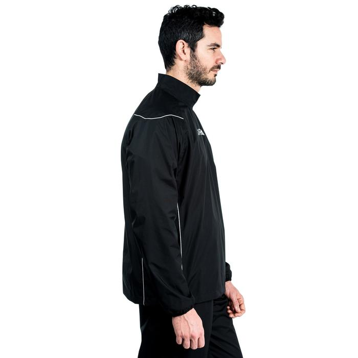 Cortaviento impermeable Smocktop lluvia rugby 500 adulto negro