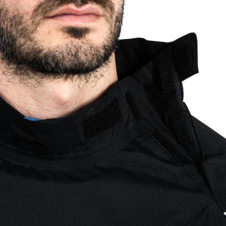 Adult Rugby Windproof Waterproof Smock Top R500 - Black