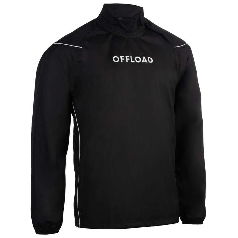 APPAREL RAINY WEATHER RUGBY MEN Rugby - Rugby Smock Top - Black OFFLOAD - Rugby Clothing