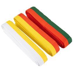 Judoband / Karateband 2,50 m, oranje/groen