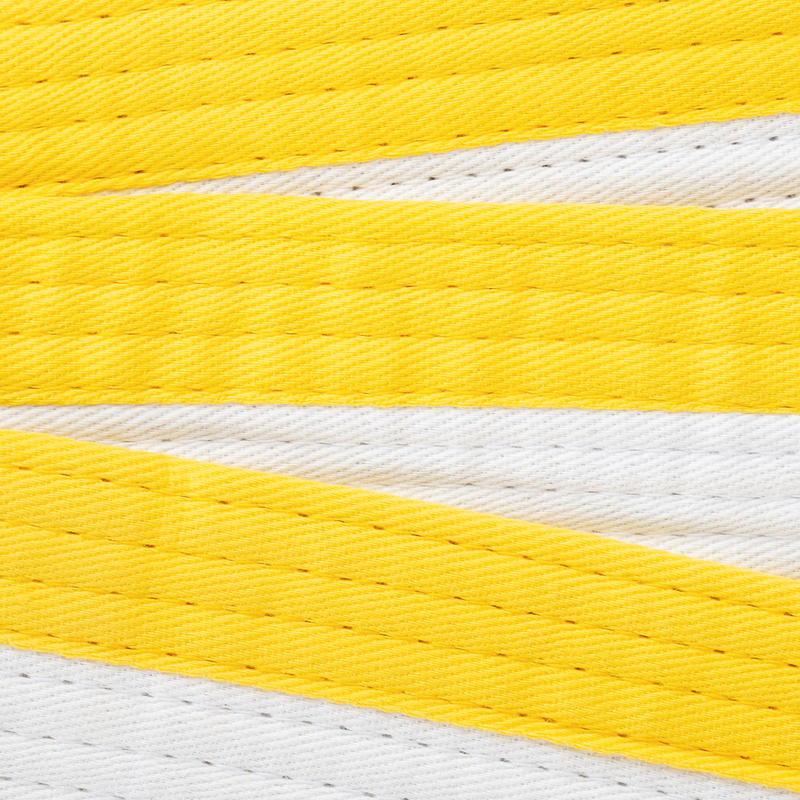 Piqué Belt 2.5 m - White/Yellow