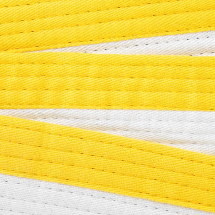 Kampfsportgürtel 2,5m weiß/gelb