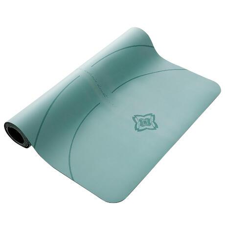 dynamic yoga mat grip  3mm  green  domyosdecathlon
