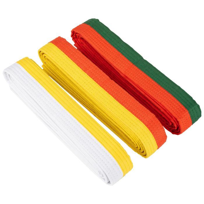 Judoband / Karateband 2,50 m, geel/oranje