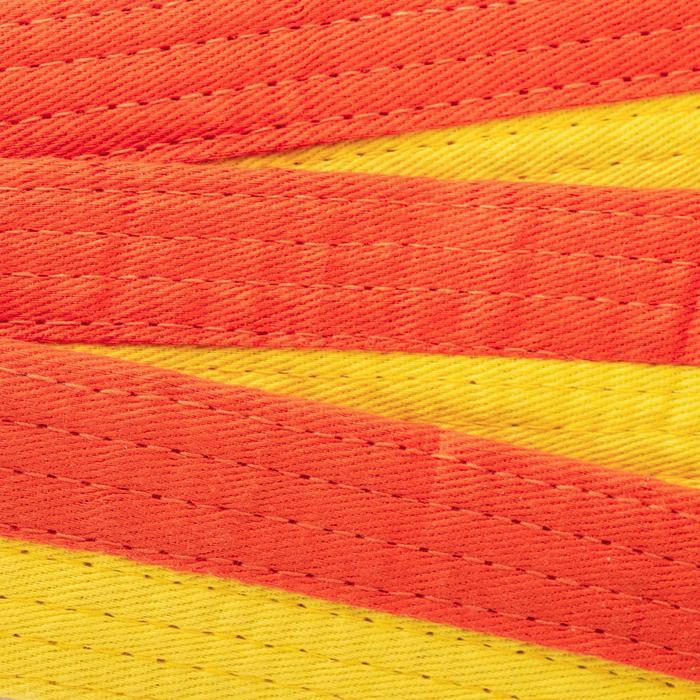 CINTURÓN COSIDO DE 2,5 M AMARILLO/NARANJA