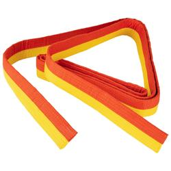 Band voor martial arts piqué 2,5 meter geel/oranje