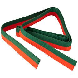 Band voor martial arts piqué 2,5 meter oranje/groen