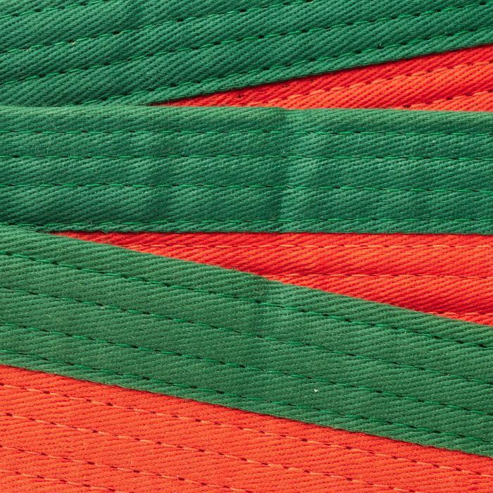 Kampfsportgürtel 2,50m orange/grün