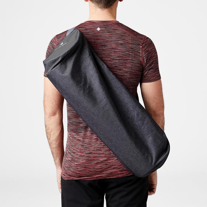 Tas voor yogamat gemêleerd donkergrijs