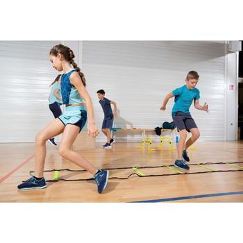Crop Top S900 Gym Kinder blau