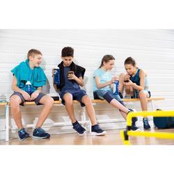 Ademende short voor gym jongens W900 blauw