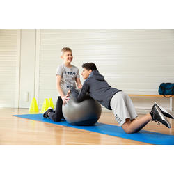 Trainingshose Regular warm 100 Gym Kinder schwarz