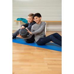 Warme molton gymbroek voor jongens 100 slim fit marineblauw