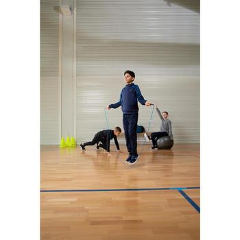 Warme en ademende trainingsbroek voor gym jongens S500 synthetisch marineblauw