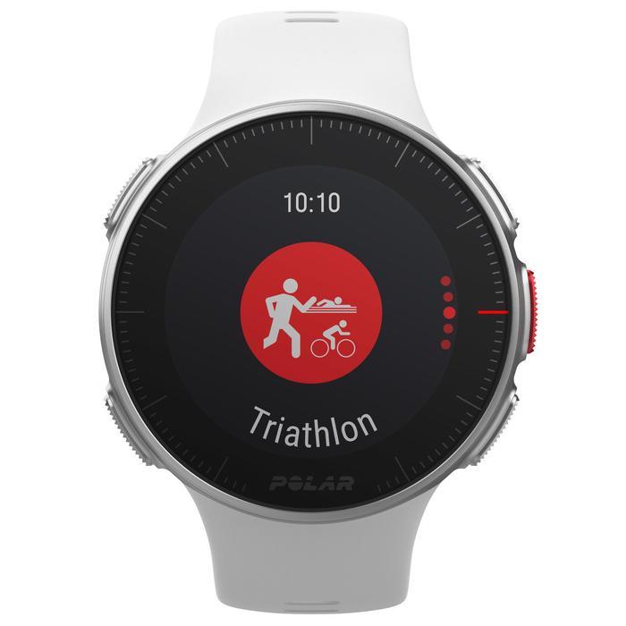 Gps-horloge hartslag multisport Vantage V wit