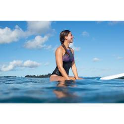 Badpak voor surfen dames Andrea Palmi gekruiste bandjes uitneembare pads