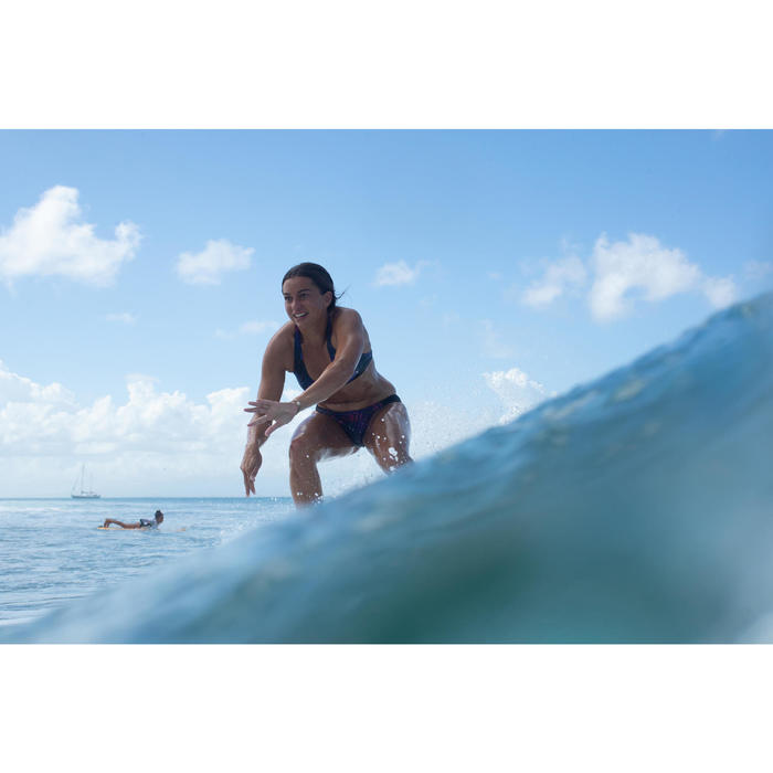 Bikini-Hose Niki Palmi seitlich gerafft Surfen Damen