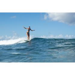 Braga Bikini Surf Pequeña Olaian Niki Colo Mujer Plisado Lateral Estampado Negro