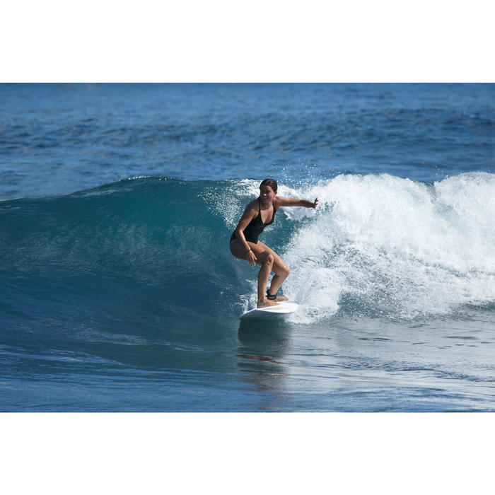 Maillot de bain de surf 1 pièce femme avec double réglage dos BEA NOIR