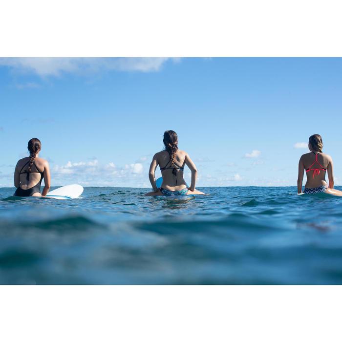 MAILLOT DE BAIN de surf 1 PIECE FEMME DOS X ANDREA NOIR avec coques amovibles