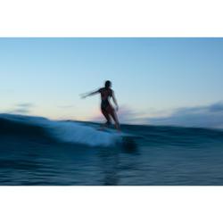 Badpak voor surfen Andrea zwart gekruiste bandjes uitneembare pads