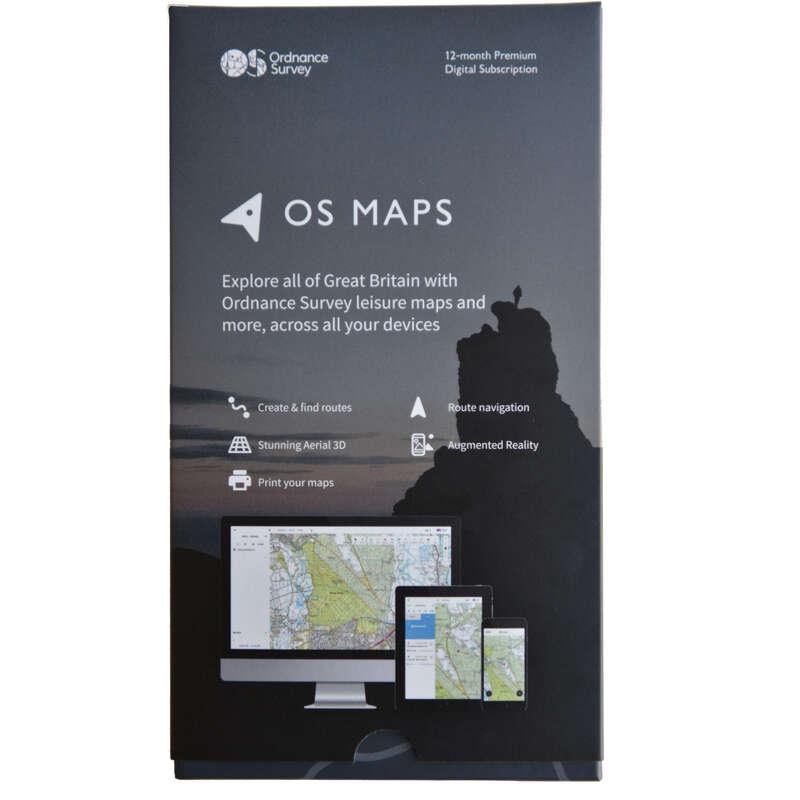 MAPS HIKING/TREK Hiking - OS Maps Digital Subscription Gift Pack ORDNANCE SURVEY - Hiking Gear and Equipment