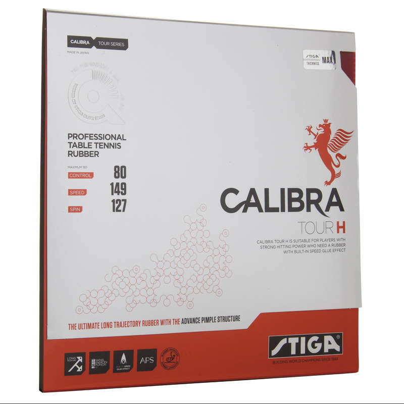 ACADEMIC BLADES & RUBBERS Table Tennis - Calibra Tour H Rubber STIGA - Table Tennis Accessories