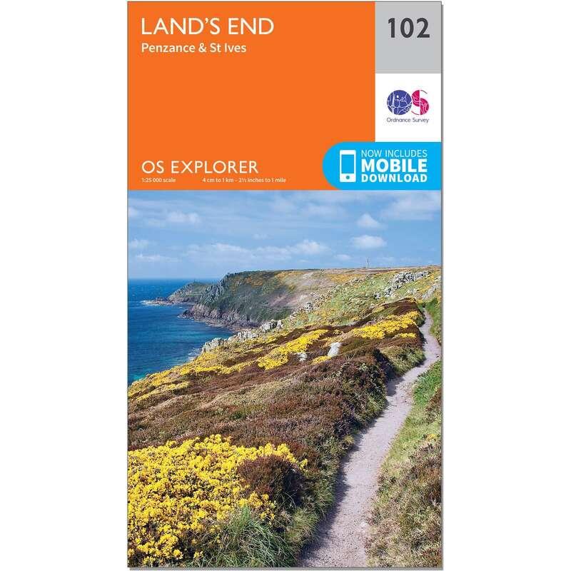 MAPS HIKING/TREK Hiking - OS Explorer Map - 102 - Land's End ORDNANCE SURVEY - Hiking Gear and Equipment