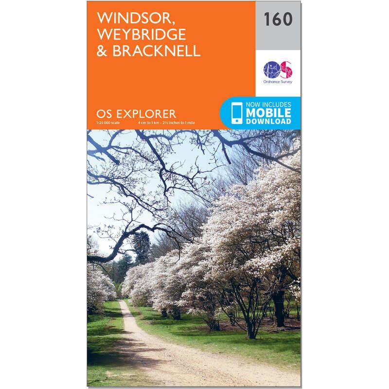MAPS HIKING/TREK Hiking - OS Explorer Map - 160 - Windsor, Weybridge & Bracknell ORDNANCE SURVEY - Hiking Gear and Equipment